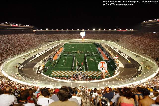 bristol motor speedway football game racing news