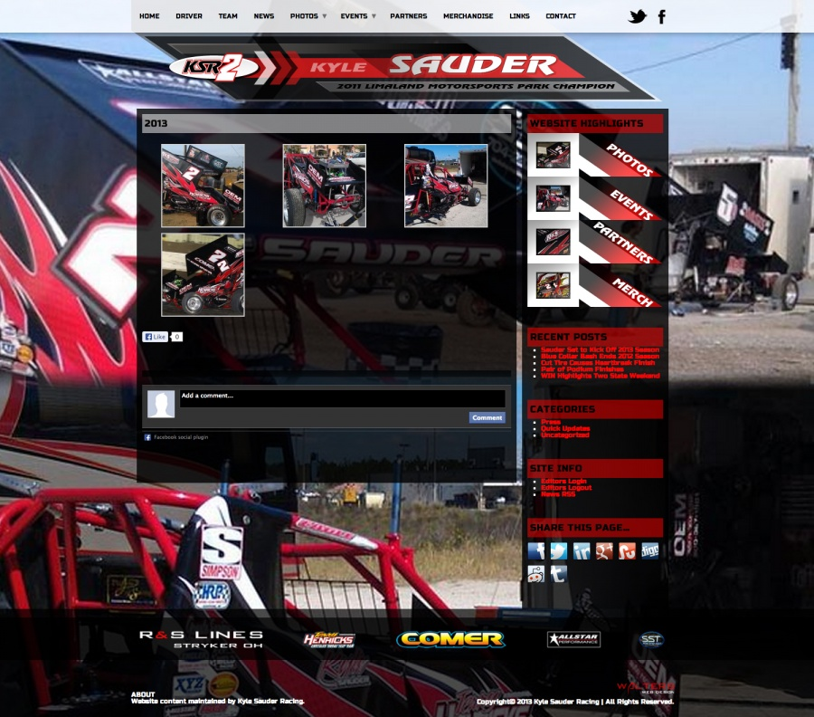 New Website Kyle Sauder Releases Sprint Car Team Website